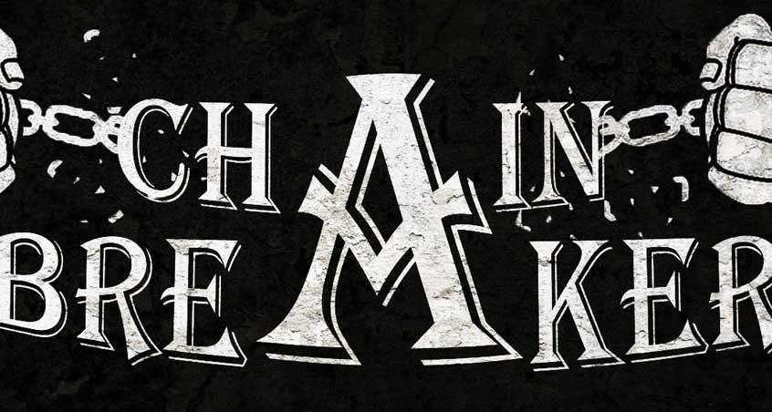 Das schwarz-weiße Logo des Chainbreaker Festival 2017