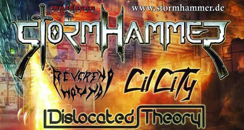 Ankündigunge der CD-Release-Party von Stormhammer
