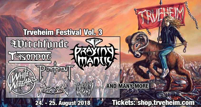 Werbung für Reverend Hound auf dem Trveheim Festival