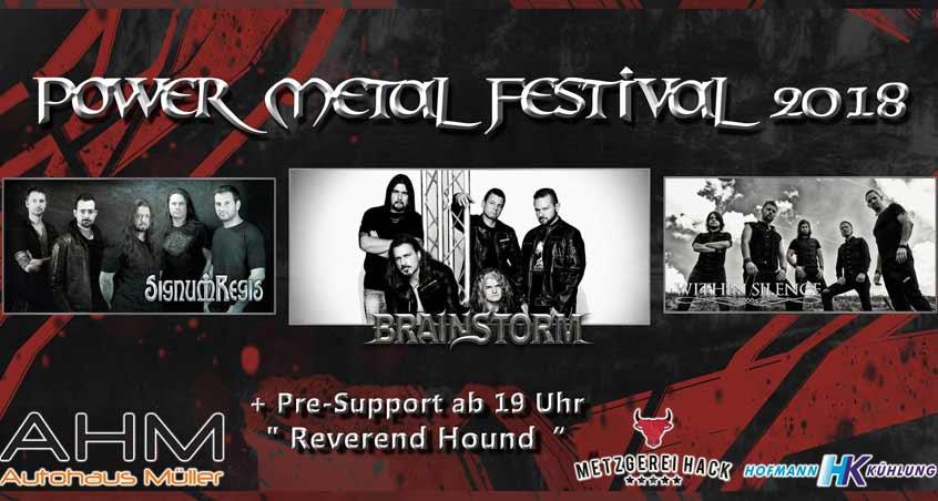 Ein Werbebild für das Power Metal Festival 2018