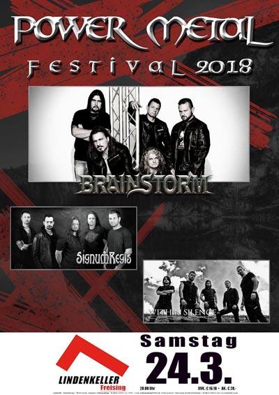 Ein Flyer für das Power Metal Festival 2018