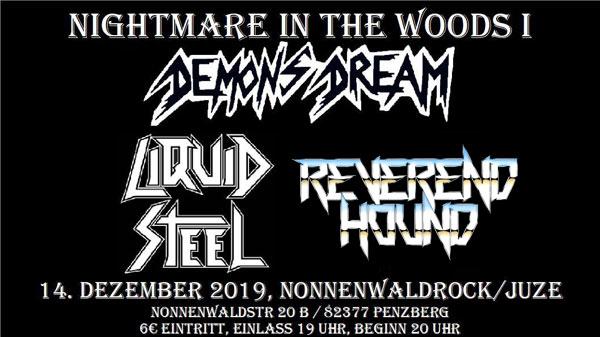 """Ein Plakat für das Konzert """"Nightmare In The Woods I"""" in Penzberg"""