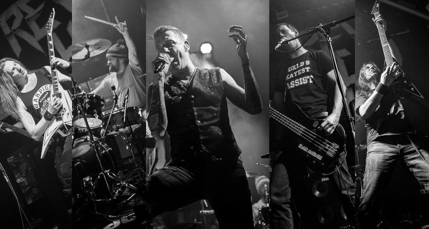 Die Metal-Band Reverend Hound bei einem Konzert im Münchner Backstage
